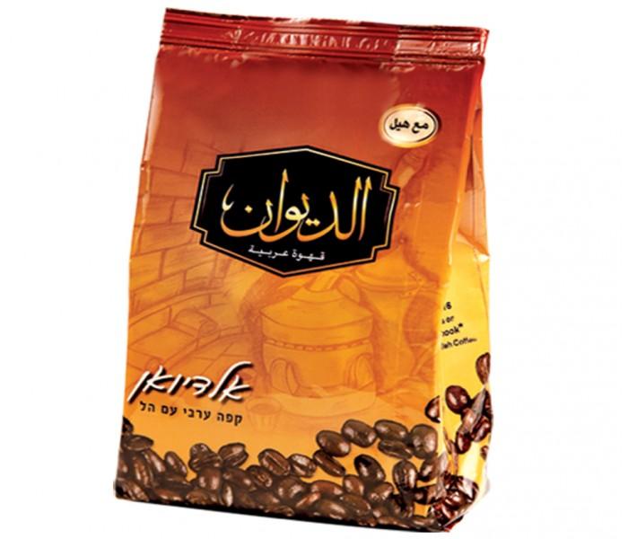 قهوة الديوان قهوة  مطحونة  ومُحمصة مع هيل 250 غرام كيس
